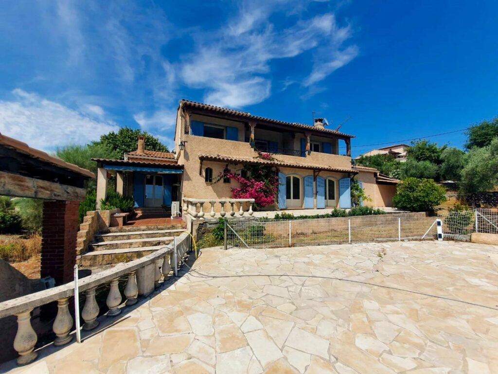 villa near nice with two floors and stone floors large garden