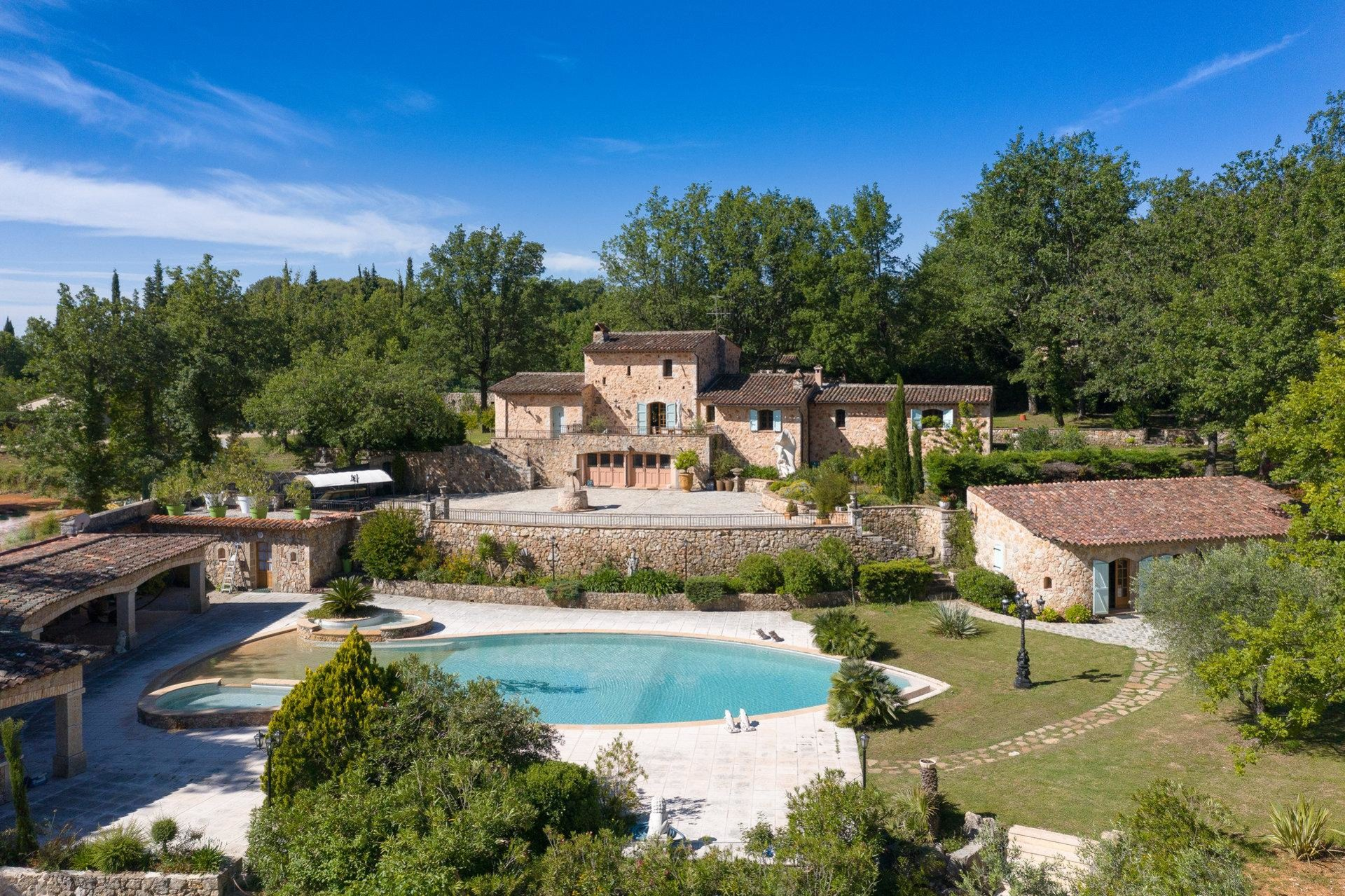 large stone villa in montauroux with large plot of land