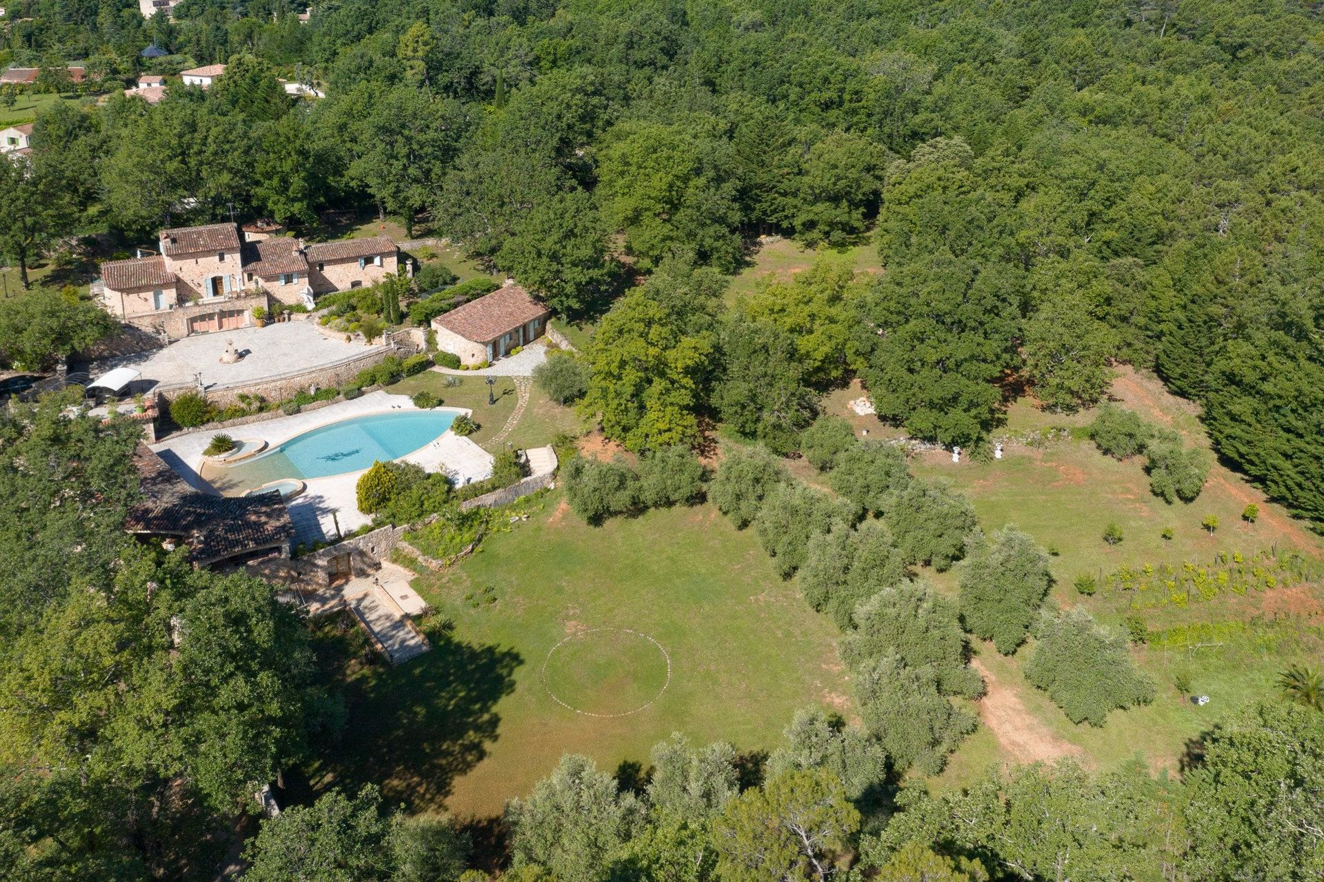 large plot of land and forest area of property in montauroux