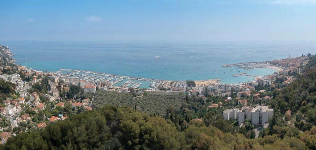 sea view from luxury villa in menton