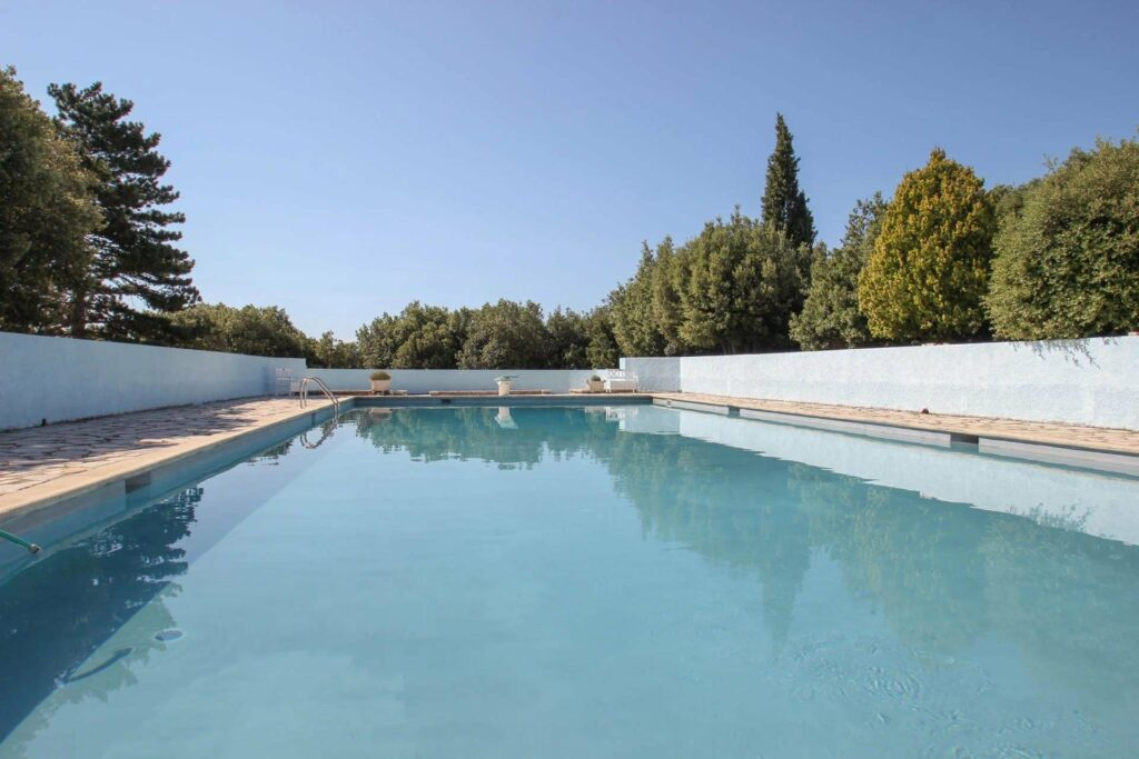 large private pool of house in mons