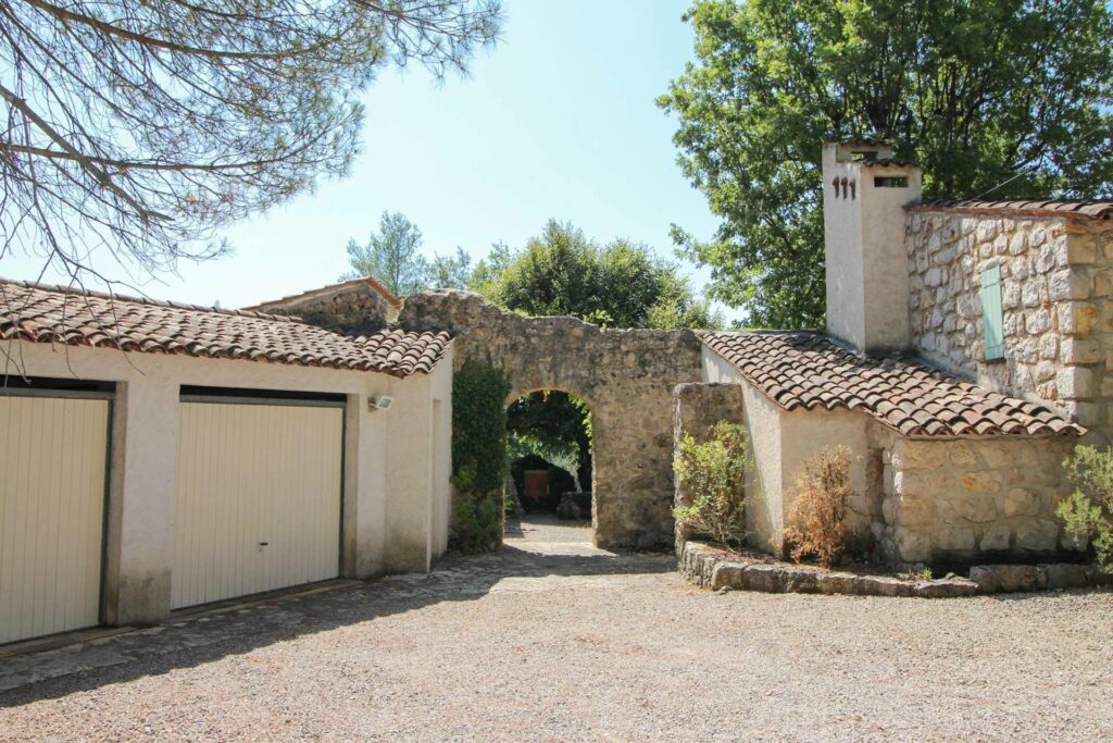 entrance of stone villa in south of france