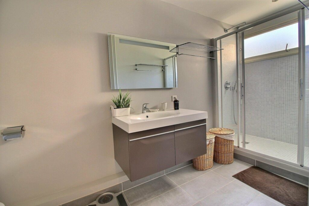 juan les pins apartment for sale bathroom with minimal design