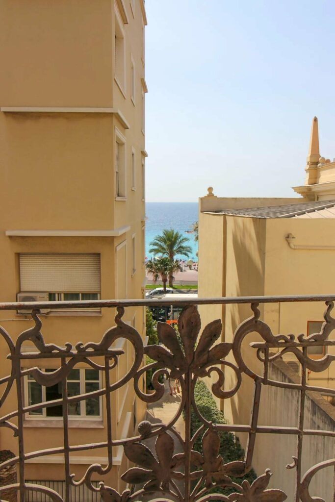 sea view from balcony of apartment in nice