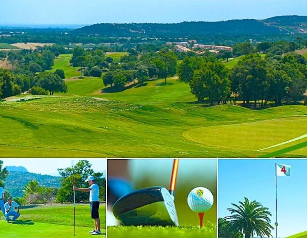 golf course of apartment complex in roquebrune