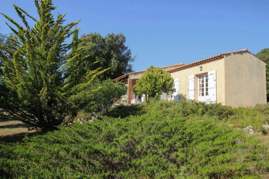 garden of provencal house in mons village