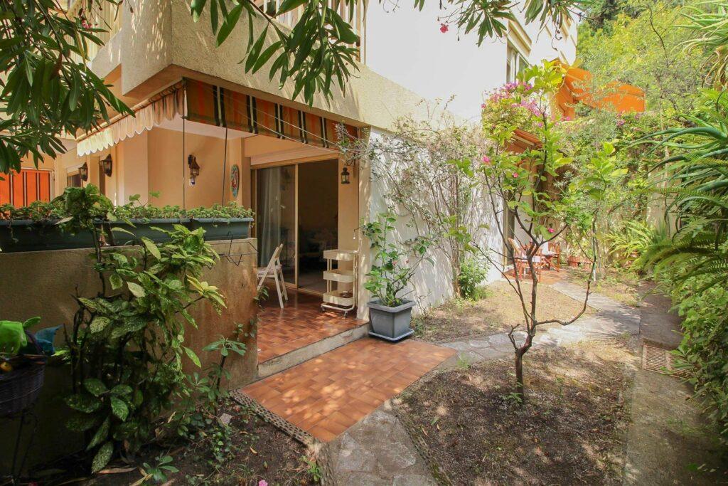 charming garden exterior apartment in menton garavan for sale