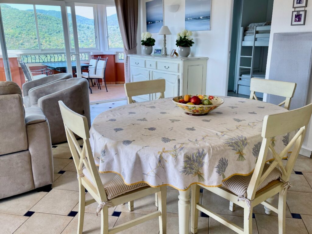 small white wood kitchen table with white table