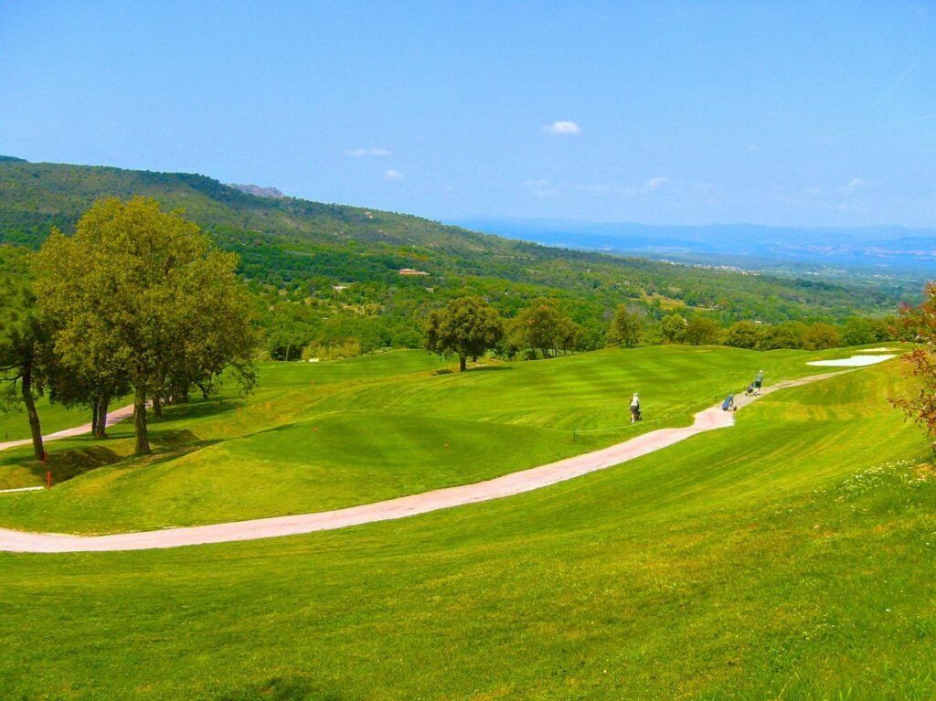 large open golf course in south france