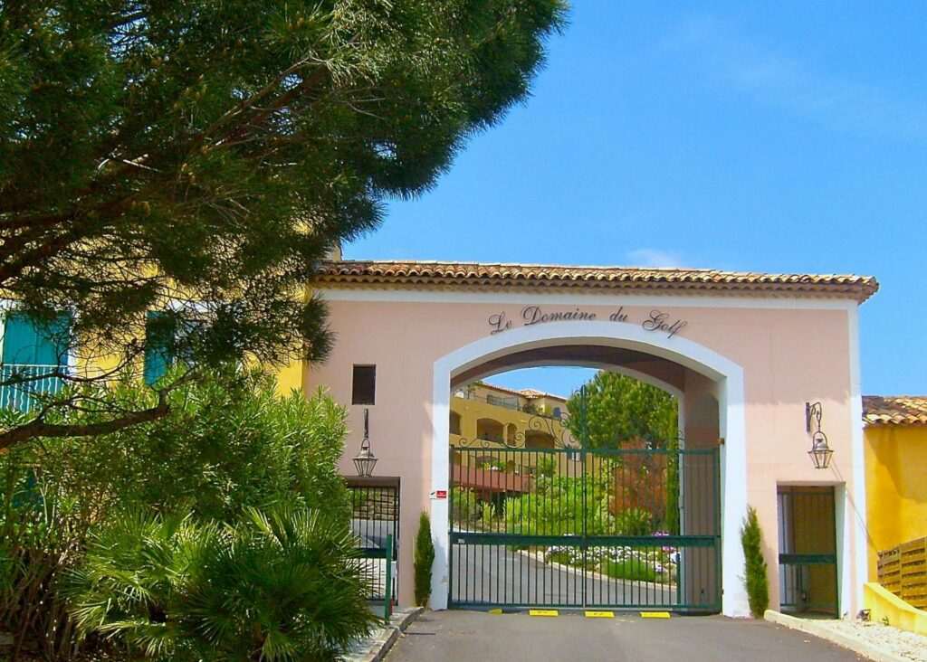 entrance gate of gated community in south france