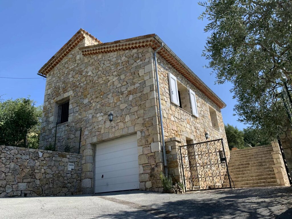 stone exterior of house in seillans for sale