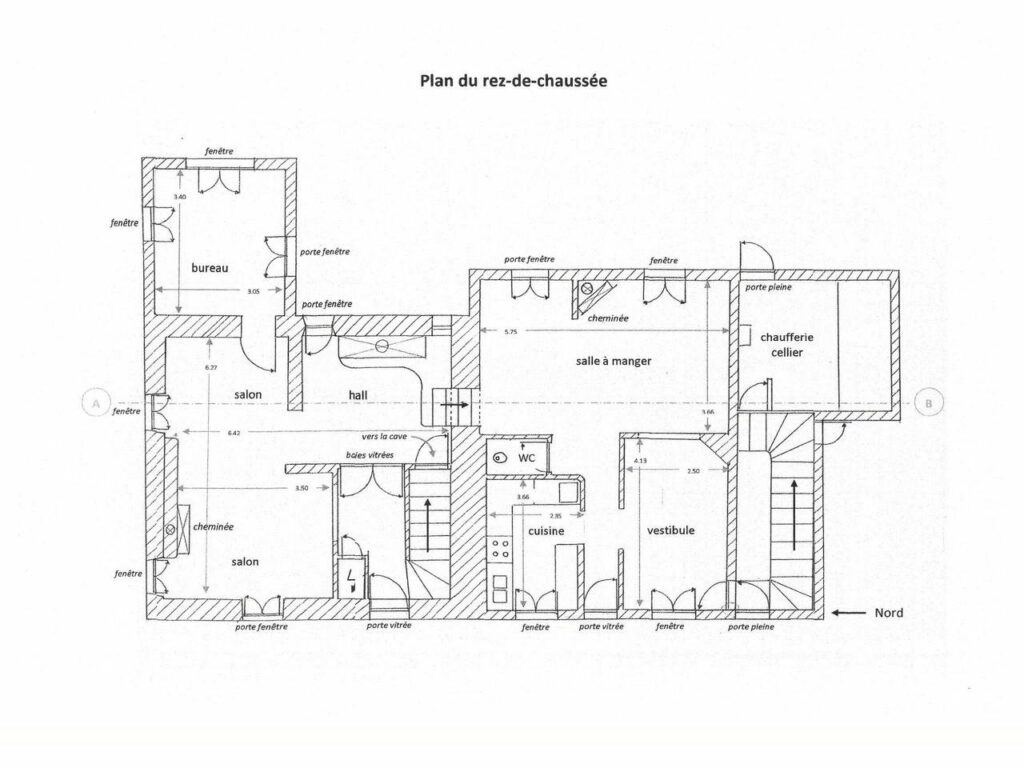 layout of 2 storey house in grasse