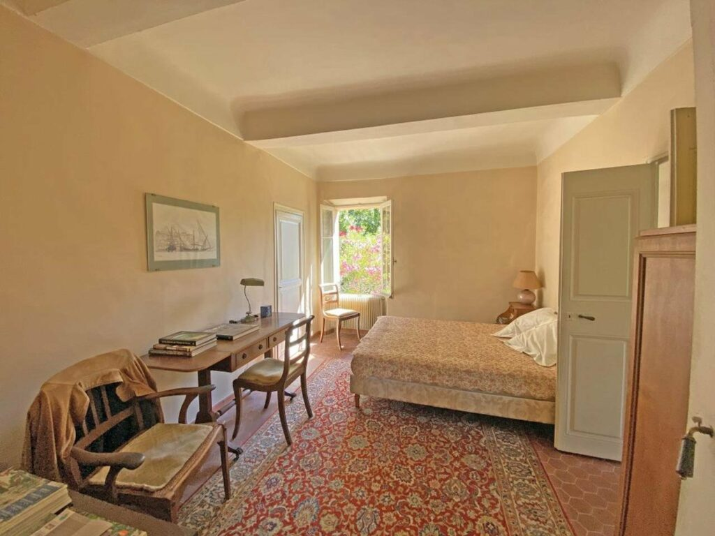 bedroom at provencal property in south france
