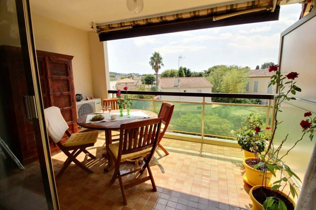 terrace at apartment for sale in antibes