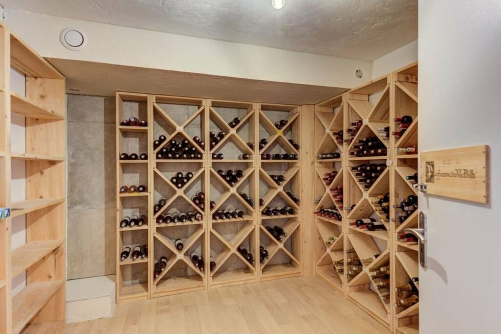 wine cellar of house for sale in grasse