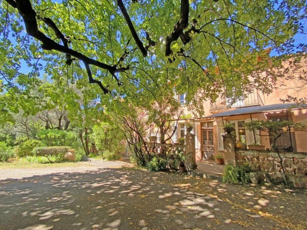 large open garden of property in south france