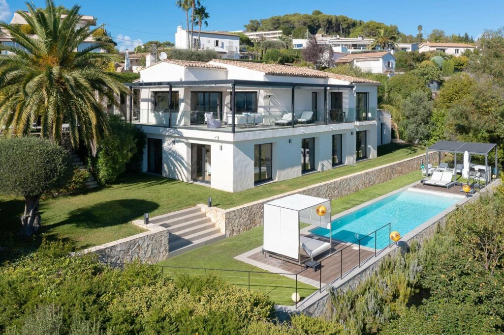 contemporary villa for sale in cannes with private pool