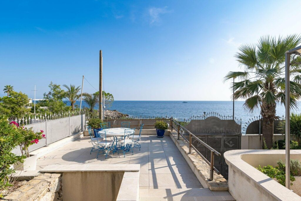 large white terrace of property for sale in antibes