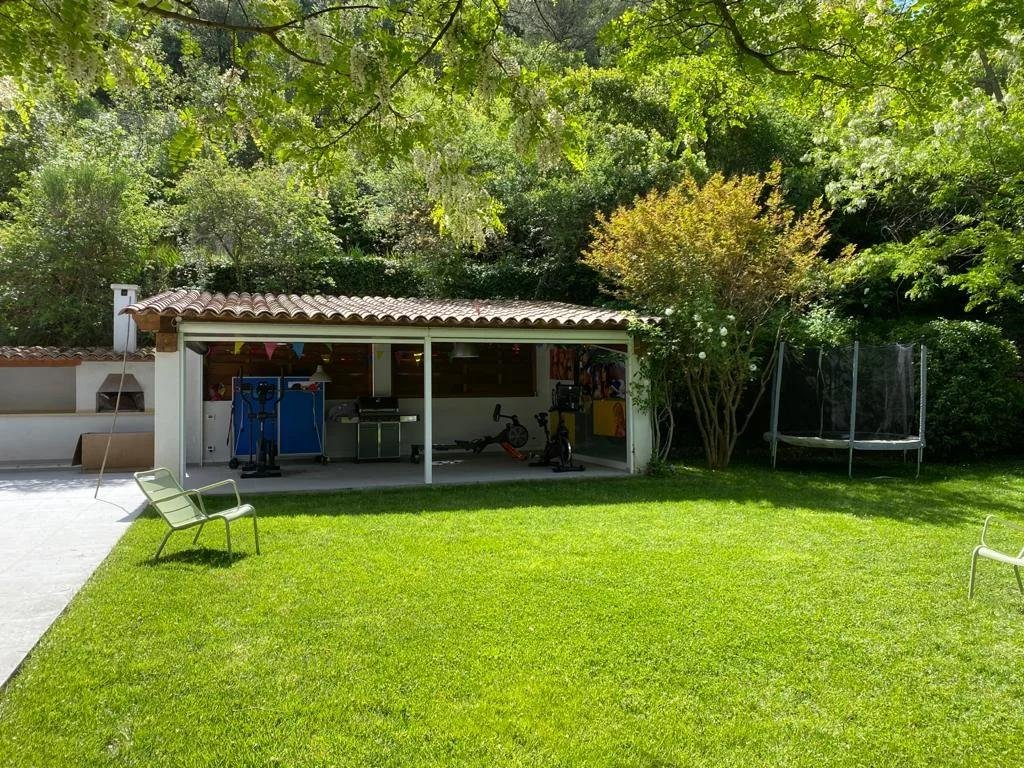outdoor shed in villa with a private pool