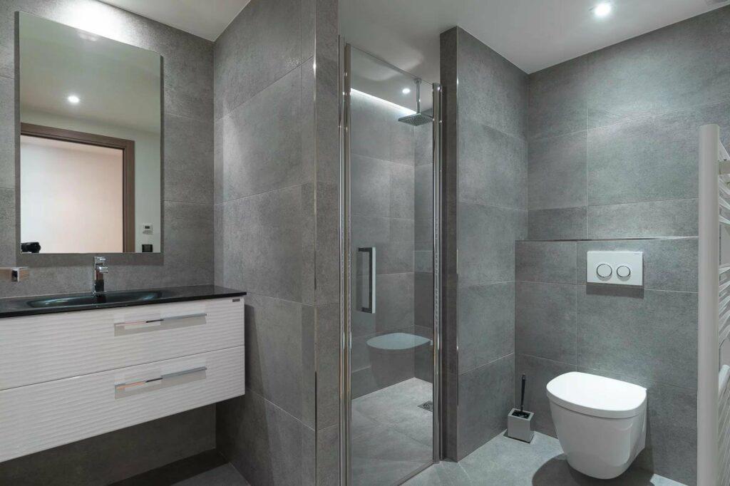 modern bathroom in south france villa