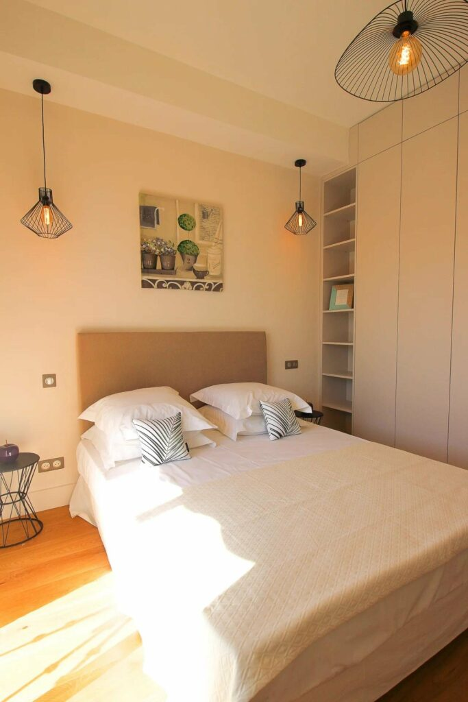 simple bedroom at apartment in nice