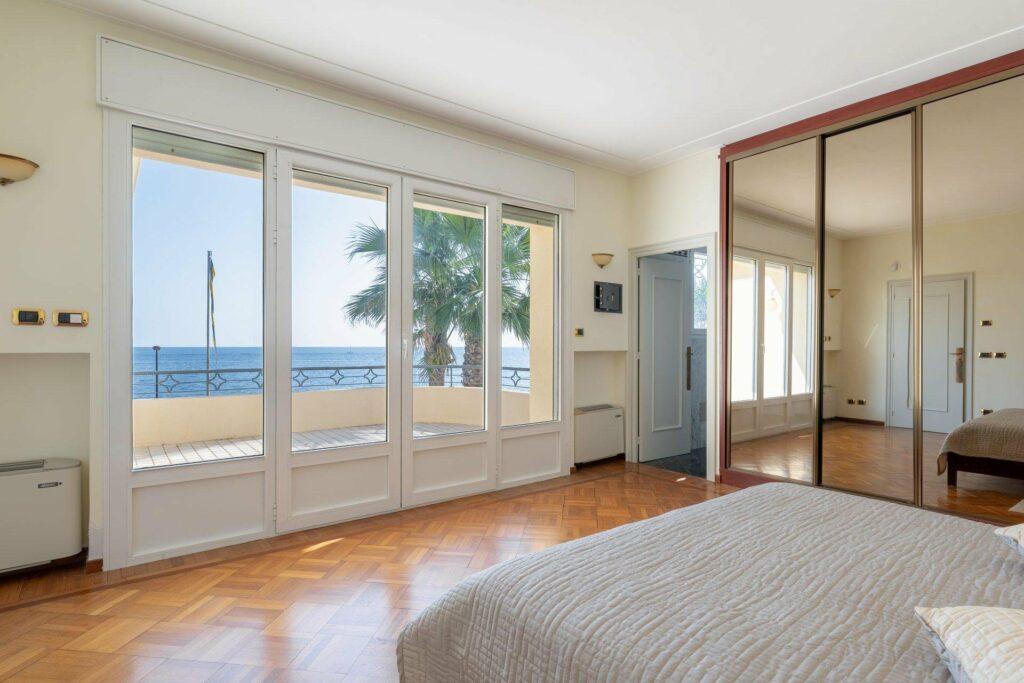 bedroom of luxury villa on french riviera
