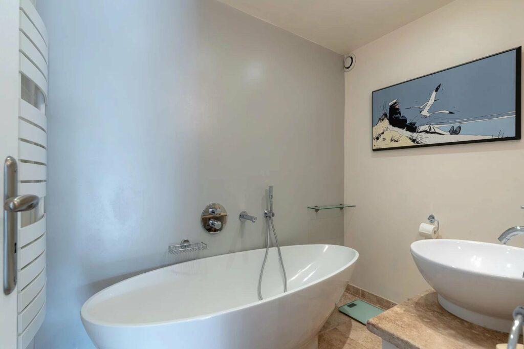 bathroom with large with bathtub provencal villa