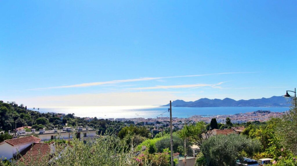 sea view from villa in cannes