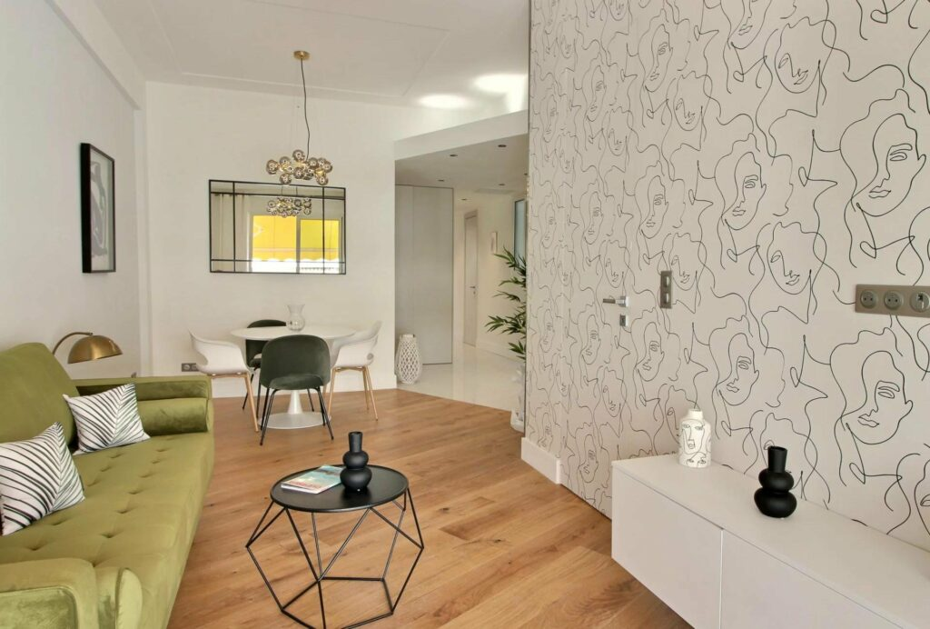 modern interior of apartment in nice for sale