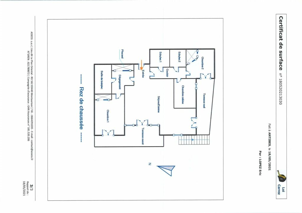 layout of apartment in the south of france