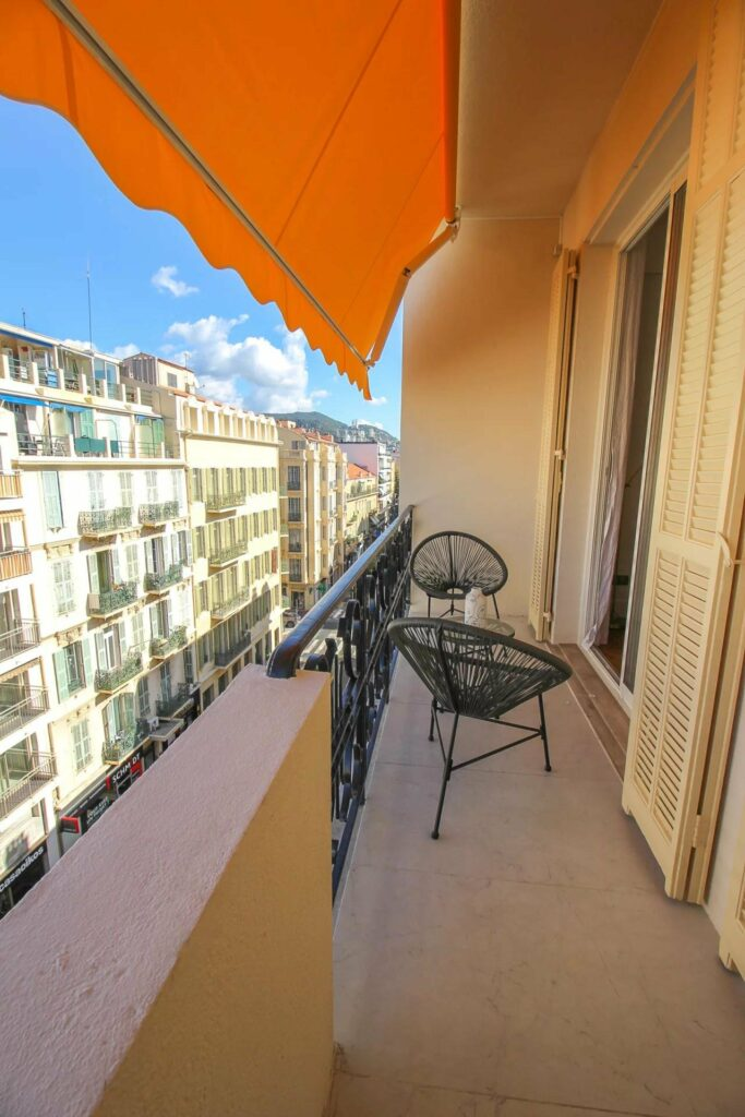terrace of apartment in central nice with city view